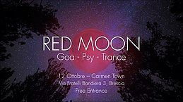 Party Flyer Red Moon - Goa Night | Carmen Town 12 Oct '18, 22:00