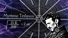 Party Flyer Mysterio Teslarum - psychedelic rave tribute 13 Oct '18, 21:00