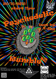 Party Flyer Psychedelic Rumble #2 20 Oct '18, 23:00