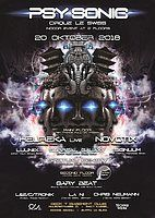Party Flyer ·•●❂ PsySonic °Cirque le Swiss° ❂●•· 20 Oct '18, 22:00