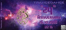 Party Flyer Atisha´s TranceDance - 24 Anniversary Celebration 26 Oct '18, 22:00
