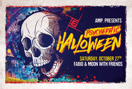 Party Flyer AMP.Halloween /w. Fabio & Moon and Friends 27 Oct '18, 23:00