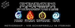 Party Flyer ELEMENTALS // PSYTRANCE UNDERGROUND PARTY @ MOTHERSHIP (TORINO) 27 Oct '18, 21:00