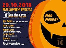 Party Flyer Mad Monday - Halloween Edition! 29 Oct '18, 23:00