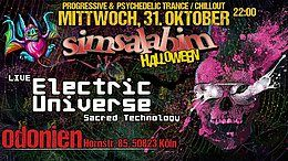 Party Flyer S*i*m*s*a*l*a*b*i*m* Magic Halloween / Electric Universe Live 31 Oct '18, 22:00