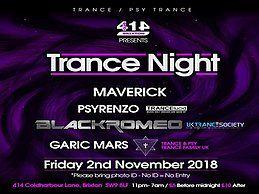 Party Flyer Club 414 Presents Trance Night (Trance & Psy Trance) 2 Nov '18, 23:00