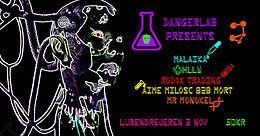Party Flyer Danger Lab Presents 2 3 Nov '18, 23:00