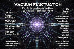 Party Flyer Vacuum Fluctuation 3 Nov '18, 22:00