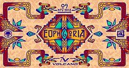 Party Flyer Euphoria #6 w/ Volcano (Sacred Technology) 9 Nov '18, 23:30