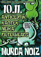 Party Flyer MURDA NOIZ 10 Nov '18, 22:00
