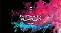 Party Flyer PsyTrance ॐ Sunday at GLOW 11 Nov '18, 21:30