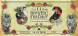 Party Flyer 11 Jahre Mystic Friday 16 Nov '18, 23:00