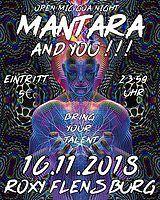 Party Flyer Mantara and you!!! – Open Mic Goa Night 16 Nov '18, 23:30