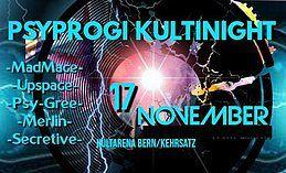 Party Flyer PsyProg KultiNight (BERN) 17 Nov '18, 21:00