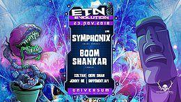 Party Flyer ॐ Evolution Goa w/ Symphonix Live / Boom Shankar 23 Nov '18, 23:00