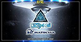 Party Flyer Psychedelic & Hitech Night with Oxidaksi / Hatikwa / Selective Mood by EMC 23 Nov '18, 23:00