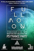 Party Flyer Full Moon Psy-Trance-Party 23 Nov '18, 22:00