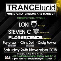 Party Flyer TRANCElucid - November 24 Nov '18, 23:00