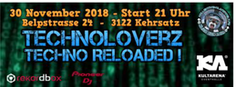 Party Flyer TechnoLoverZ - Techno Reloaded ! (30 Nov. 2018) 30 Nov '18, 21:00