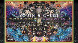 Party Flyer Liquid Sound Design presents: YOUTH & GAUDI 'Astronaut Alchemists' album launch 7 Dec '18, 20:00