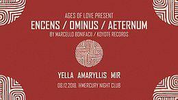 Party Flyer Encens / Ominus / Aeternum (UK) Live 1st time in Serbia! 8 Dec '18, 23:00