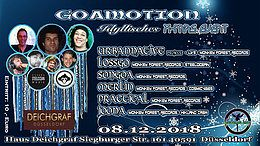 Party Flyer GOAMOTION - Das idyllische X-Mas Event 2018 8 Dec '18, 22:00