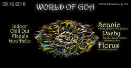 Party Flyer World of GOA 8 Dec '18, 22:00