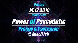 Party Flyer Power of Psychedelic - Proggy und Psytrance - 14 Dec '18, 22:00