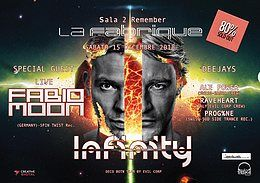Party Flyer Infinity Present Fabio&Moon Live 15 Dec '18, 23:30