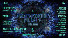 Party Flyer Psychedelic Flux 7 / With Ninesense 15 Dec '18, 22:00