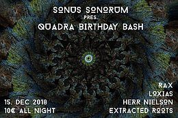 Party Flyer Sonus Sonorum Birthday Bash 15 Dec '18, 22:00