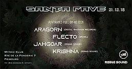 Party Flyer SANTA RAVE - Rising Sound 21 Dec '18, 22:00