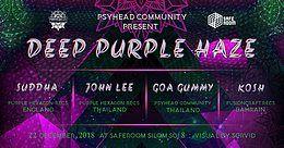 Psyhead Community pres, DEEP PURPLE HAZE 22 Dec '18, 21:00