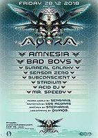 Party Flyer Agora with Amnesia & Bad Boys 28 Dec '18, 23:00