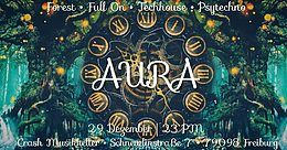 Party Flyer AURA presents: The timeless forest 29 Dec '18, 23:00
