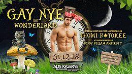 Party Flyer Gay NYE in Wonderland w/ Labyrinth DJs 31 Dec '18, 23:00