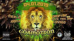 Party Flyer GOAMOTION - Start Up 2019 // Goa-Event 4 Jan '19, 22:00