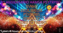 Party Flyer ॐ2º Aniversario Hamsá PsyTryboॐ Powered By Amantes Das Raves <3 5 Jan '19, 23:30