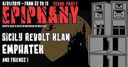 Party Flyer Epiphany TEKNO party 5 Jan '19, 23:00