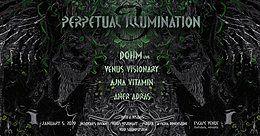 Party Flyer ♃ Perpetual Illumination IIl ♃ DoHm live ♃ 5 Jan '19, 22:00