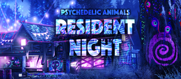 Party Flyer Psychedelic Animals - Resident Night 11 Jan '19, 20:00