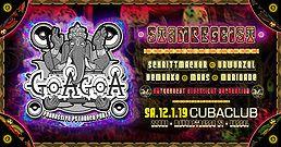 Party Flyer ॐ GoaGoa ॐ 2 Floors ॐ 6 Acts ॐ 1500 Watt Schwarzlicht 12 Jan '19, 22:00