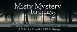 Party Flyer Misty Mystery Brithday 2   12 HOURs   14 DJs   6-10 EUROs 12 Jan '19, 20:00
