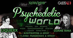 Party Flyer Psychedelic World | Local Party 12 Jan '19, 23:00