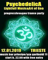 Party Flyer ***PsychedelicA***Lightfull Music&Art of Goa 12 Jan '19, 22:00