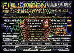 Party Flyer Full moon fire dance beach festival 20 Jan '19, 10:00
