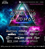 Party Flyer Dancing Budhas 13th Aniversary 25 Jan '19, 23:30