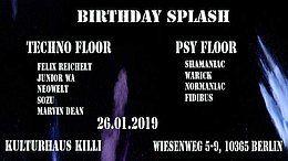 Party Flyer Birthday Splasher Nr.1 26 Jan '19, 22:00