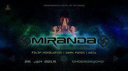 Party Flyer Miranda at UnderGround 26 Jan '19, 23:00