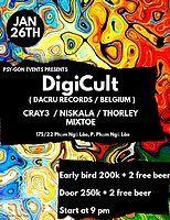 Party Flyer Progressive Psy-Gon presents Digicult (Be, Dacru Records) 26 Jan '19, 21:00